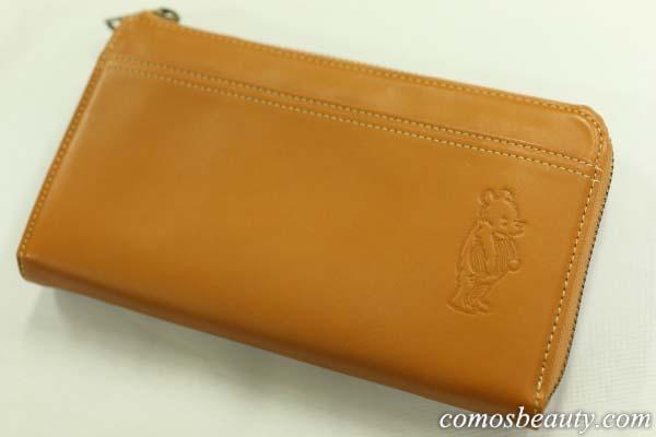 【ベルメゾンネット】くまのプーさんのレザー長財布
