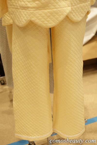 【エルラガルデン】綿100%のLily Palette(リリーパレット)のキルトパジャマ ボタン付き