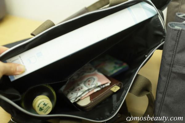 フェリシモ 荷物を放り込むだけでスッキリ仕分け T字形の仕切り付きトートバッグ〈撥水(はっすい)・リュック〉の会