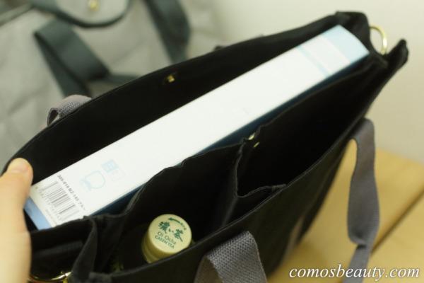 フェリシモ 荷物を放り込むだけでスッキリ仕分け T字形の仕切り付きトートバッグ〈撥水(はっすい)〉の会